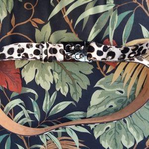NWOT Worthington calf hair XL adjustable belt